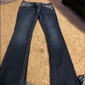 Miss me's 29/34 but are 32 1/2 inseam